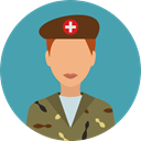 user, profile, Avatar, job, Social, soldier, profession, Occupation, Militar, Professions And Jobs CadetBlue icon