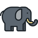 elephant, zoo, Animals, mammal, Wild Life, Animal Kingdom DimGray icon