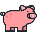 pig, zoo, Animals, Farm, wildlife, Animal Kingdom LightSalmon icon
