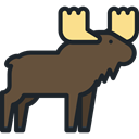 zoo, Animals, Moose, mammal, Wild Life, Animal Kingdom DarkOliveGreen icon