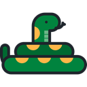 Animals, reptile, Wild Life, Animal Kingdom, snake, zoo Black icon