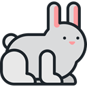 Bunny, zoo, Animals, rabbit, mammal, Wild Life, Animal Kingdom Gainsboro icon