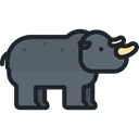 zoo, Animals, rhinoceros, Wild Life, Animal Kingdom DimGray icon
