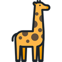 zoo, Animals, Giraffe, mammal, Wild Life, Animal Kingdom Black icon