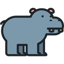 Wild Life, Animal Kingdom, zoo, Animals, mammal, hippopotamus LightSlateGray icon