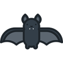 bat, zoo, Animals, Wild Life, Animal Kingdom Black icon
