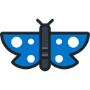 insect, butterfly, Animals, Moths Black icon