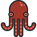 Aquarium, Octopus, Aquatic, Sea Life, Animals Brown icon
