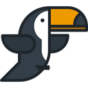 bird, toucan, Animals, Wild Life, Animal Kingdom DarkSlateGray icon