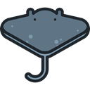 Animals, Aquarium, ray, Aquatic, Sea Life, Manta Ray SlateGray icon