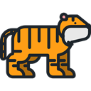 Animal, Tiger, zoo, Animals, Wild Life, Animal Kingdom DarkSlateGray icon