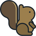 Animal, zoo, Animals, squirrel, Wild Life, Animal Kingdom DarkOliveGreen icon