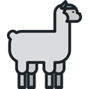 Animal, zoo, Animals, Llama, Wild Life, Animal Kingdom Gainsboro icon