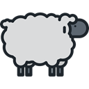 Sheep, Animals, mammal, wildlife, Animal Kingdom Gainsboro icon