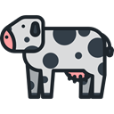 Wild Life, Animal Kingdom, zoo, cow, Animals DarkSlateGray icon
