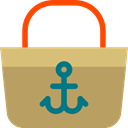 sun, Bag, Sunny, Beach, sand, fashion, Beach Bag DarkKhaki icon