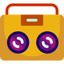 Boombox, musical instrument, Mixing, Mixer, music player, radio, technology Goldenrod icon