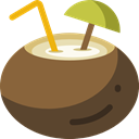party, Alcohol, food, cocktail, Coconut, leisure, drinking, straw, Alcoholic Drinks Sienna icon