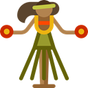 people, party, Fun, Celebration, Dancing, stick man, dancer, Ethnic Black icon