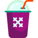 food, glass, Cold, fresh, drinking, straw, Ice Cubes, Glasses, drink Purple icon