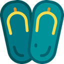 fashion, sandals, footwear, flip flops, Summertime Teal icon