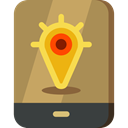 navigation, mobile phone, cellphone, Gps, smartphone, technology Peru icon