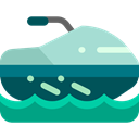 sea, transport, vehicle, Jet ski, Watercraft, Sea Scooter Black icon