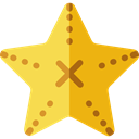 star, Animal, life, Animals, Fivepointed Stars, Sea Star, Starfish, outline, Fivepointed, Sea Life Goldenrod icon