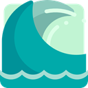 waves, ocean, wave, Beach, summer, water, nature, sea LightSeaGreen icon