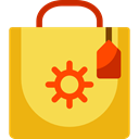 Shop, Container, shopping bag, paper bag, paper, commerce, shopping, Bag SandyBrown icon