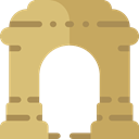 Arc, engineering, landmark, Monuments, Architectonic DarkKhaki icon