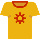 Shirt, Clothes, clothing, fashion, Masculine, Garment Goldenrod icon