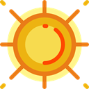 sun, weather, nature, Sunny, warm, summer, meteorology, Summertime Goldenrod icon