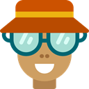 Holidays, leisure, tourist, traveler, user, Avatar, people Chocolate icon