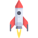 Rocket, transportation, transport, startup, Space Ship, Seo And Web Black icon