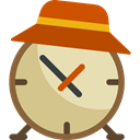 Clock, time, watch, tool, square, vacations, Tools And Utensils Chocolate icon
