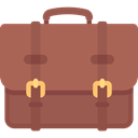 Business, Briefcase, Bag, suitcase, travel, portfolio IndianRed icon
