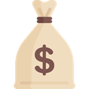 Business, Money, Dollar Symbol, Business And Finance, Currency, Bank, banking, money bag Wheat icon