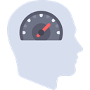 head, speedometer, Brain, mind, productivity, Seo And Web, people Gainsboro icon