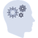 people, head, Seo And Web, Brain, mind, productivity, Cogwheels Gainsboro icon