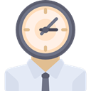 Avatar, Social, Clock, people, user, profile Lavender icon