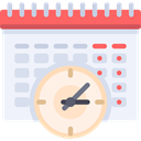 Time And Date, interface, Administration, Organization, Calendars, Calendar, time, date, Schedule AliceBlue icon