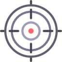 Aim, miscellaneous, Target, shooting, sniper, weapons Black icon