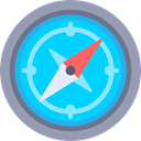 Cardinal Points, Maps And Location, Direction, Tools And Utensils, compass, Orientation, location DeepSkyBlue icon