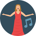 Opera, woman, singer, Soprano, Genres, Music And Multimedia, music DarkSlateGray icon