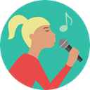 music, Concert, Music And Multimedia, people, woman, Girl, singer LightSeaGreen icon