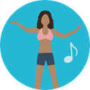 dancer, Music And Multimedia, woman, Girl, musical, music, people LightSeaGreen icon
