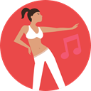 Girl, musical, dancer, Music And Multimedia, music, people, woman Tomato icon