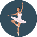 Dance, Dancing, dancer, Ballet, sports, Balance, Sports And Competition, Music And Multimedia DarkSlateGray icon
