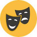 performance, Art, Mask, Theater, Drama, Comedy, tragedy, entertainment SandyBrown icon